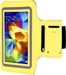 Hurtel Opaska do biegania na ramię armband Samsung Galaxy S6 S5 S4 S3 żółta uniwersalny