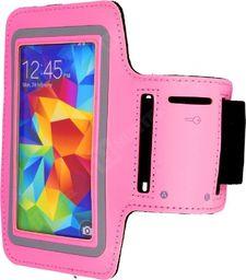 Hurtel Opaska do biegania na ramię armband Samsung Galaxy s6 s5 s4 s3 różowa jasna uniwersalny