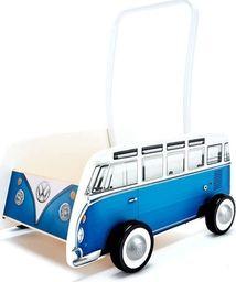 Hape Chodzik  Drewniany, wózek dla dzieci , VW klasyczny bus T1 niebieski uniw