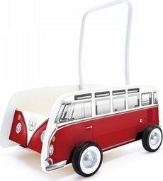 Hape Chodzik  Drewniany, wózek dla dzieci , VW klasyczny bus T1 czerwony uniw