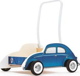 Hape Chodzik  Drewniany, wózek dla dzieci , VW Beetle, niebieski uniw