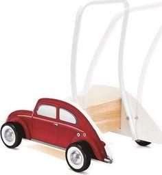 Hape Chodzik  Drewniany, wózek dla dzieci , VW Beetle, czerwony uniw
