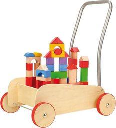 Small Foot Wózek chodzik z klockami  - zabawka dla dzieci uniw