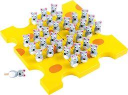 Small Foot Gra planszowa  dla dzieci Samotnik - Myszki na kawałku sera, zabawki montessori uniw