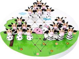 Small Foot Gra planszowa dla dzieci Halma Samotnik z krówkami, zabawki montessori uniw