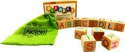 Akson Klocki drewniane edukacyjne - ALFABET dla dzieci  , nauka czytania, nauka literek  uniw