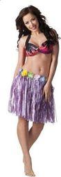 Aster Spódnica hawajska 45 cm fioletowa uniw