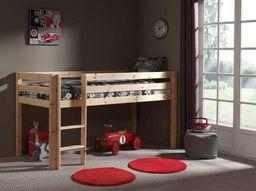 Vipack Drewniane łóżko piętrowe dla dzieci Pino - sosna naturalna uniw