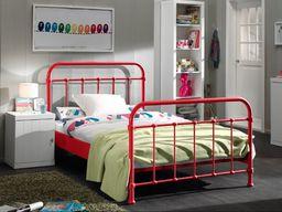 Vipack Metalowe łóżko dla dziecka New York CZERWONY 128x212 cm uniw