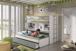 Vipack Łóżko piętrowe dla dzieci Bonny  Silver uniw