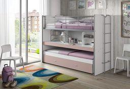 Vipack Łóżko piętrowe dla dzieci Bonny  Pink uniw