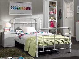 Vipack Metalowe łóżko New York BIAŁE dla dziecka 212x128 cm uniw