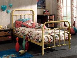 Vipack Metalowe łóżko dla dziecka New York słoneczna żółć 96x212 cm uniw