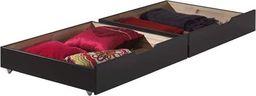 Vipack Drewniane szuflady pod łóżko Pino - sosna ciemnoszara uniw