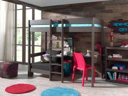Vipack Łóżko  piętrowe drewniane dla dziecka  Pino Sofabed  - ciemnoszara uniw