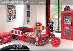 Vipack Łóżko dla dziecka samochód Straż Pożarna - Fire Truck Mini uniw