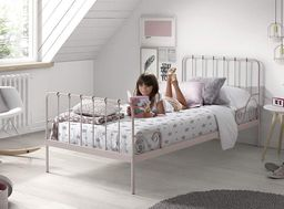 Vipack Metalowe łóżko dla dziecka Alice Old Pink, VIPACK uniw