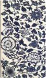 Incood Notes H5/96K biały granatowe Kwiaty i Liście