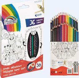 Fiorello Kredki Super Soft 36 kolorów ostrz. trójk.FIORELLO
