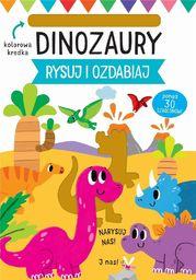 Wilga Rysuj i ozdabiaj. Szablony. Dinozaury