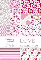 Blok biurowy GDD Blok A4/15 z motywami Love HAPPY COLOR