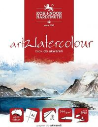 Blok biurowy Koh-I-Noor Blok akwarelowy artwatercolour A6 12 kartek 300G.