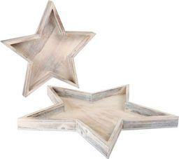 Small Foot Drewniane tace w kształcie gwiazd - 2 szt, dekoracja świąteczna uniw