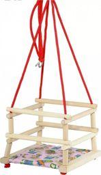 Huśtawka Tupiko Huśtawka drewniana  dla dzieci z poduszką uniw
