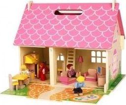BigJigs Mobilny drewniany domek dla lalek spełnia marzenia