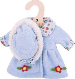 BigJigs Ubranko dla lalki 25 cm Niebieski płaszczyk i czapka  uniw