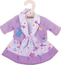 BigJigs Ubranko dla lalki 35 cm Liliowa sukienka i sweterek  uniw
