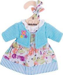 BigJigs Ubranko dla lalki 25 cm Turkusowy sweterek i sukienka uniw
