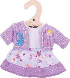 BigJigs Sukienka dla lalki 25 cm Liliowa sukienka i sweterek uniw