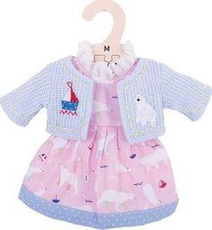 BigJigs Sukienka dla lalki 30 cm Sukienka z misiem polarnym uniw