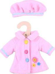 BigJigs Ubranko dla lalki 25 cm Rożowy płaszczyk i czapka  uniw