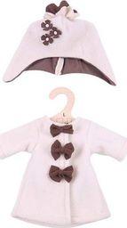 BigJigs Ubranko dla lalki 35 cm Beżowy płaszczyk polarowy z czapka uniw