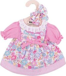 BigJigs Sukienka dla lalki 30 cm Różowa sukienka w kwiatki uniw