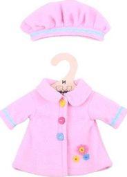 BigJigs Ubranko dla lalki 30 cm Rożowy płaszczyk i czapka uniw