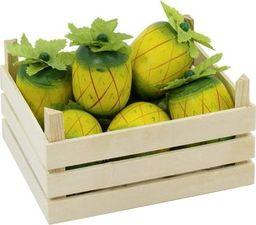 Goki Skrzynia z ananasami do zabawy 5 elementów , zabawa w sklep uniw