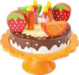 Small Foot Drewniany Tort urodzinowy do krojenia do zabawy dla dzieci uniw