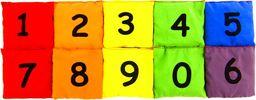 Woreczek gimnastyczny szkolny z cyferką 0 - żółty uniw