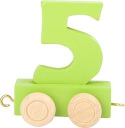 Wagon cyfra liczba 5 nauka liczenia uniw
