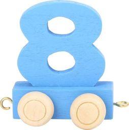 Wagon cyfra liczba 8  nauka liczenia uniw