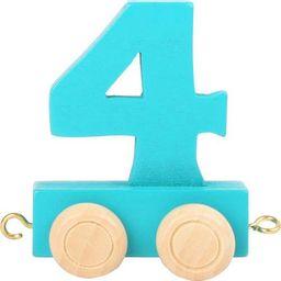 Wagon cyfra liczba 4 , nauka liczenia uniw