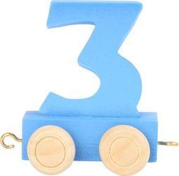 Wagon cyfra liczba 3, nauka liczenia uniw
