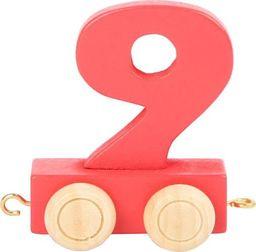 Wagon cyfra liczba 9 nauka liczenia uniw