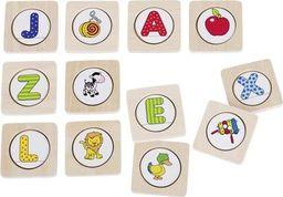 Goki Gra memory do nauki języka niemieckiego - literki, gra logiczna dla dzieci, pomoce Montessori uniw