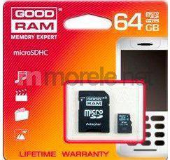 Karta MicroSD GoodRam SDXC 64GB Class 10 + adapter (SDU64GXCUHS1AGRR10)