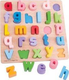 BigJigs Puzzle ABC - małe litery, nauka literek , nauka czytania dla dzieci uniw