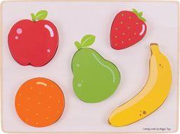 BigJigs Owoce  Puzzle drewniane do zabawy dla dzieci  uniw